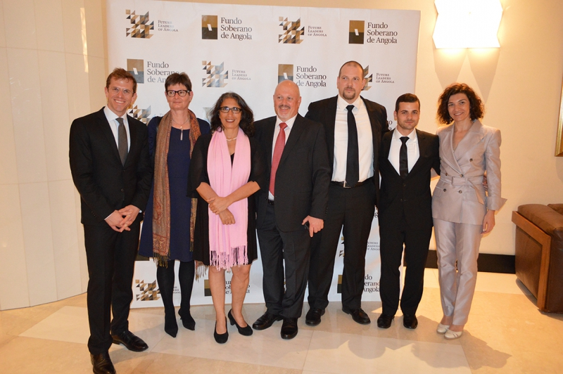 SML and UNIQUA representatives at the Graduation Ceremony: Beat Fornaro (UNIQUA), Suzanne Ziegler (ABF), Maya Gadgil (DIB), Khaldoun Dia-Eddine, (DIB), Daniel Seelhofer (DIB), Avni Asani (ABF) and Maria Marques (UNIQUA)