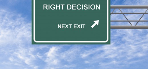 Road sign to right decision