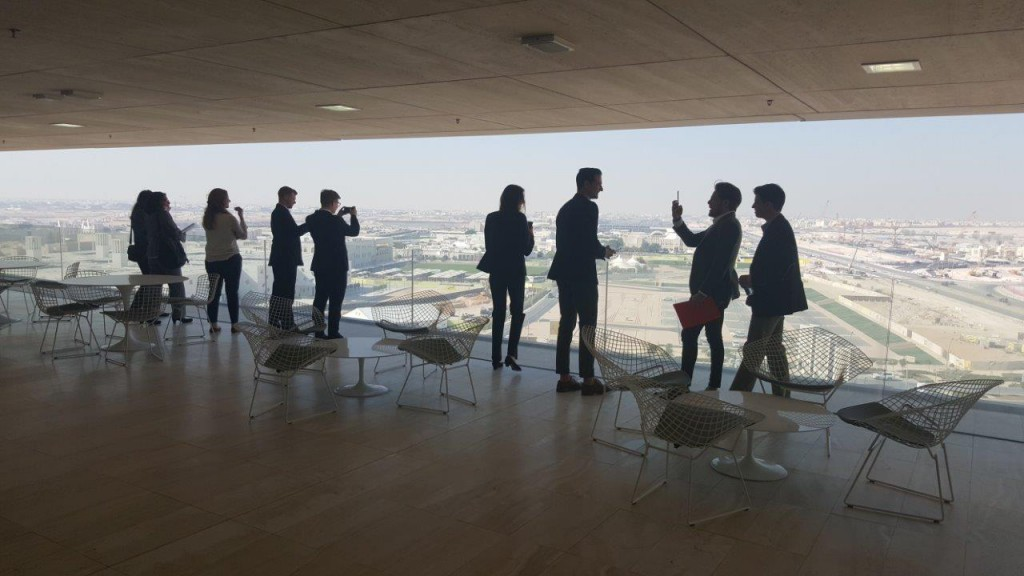Students were able to experience the everyday business practices of Doha.