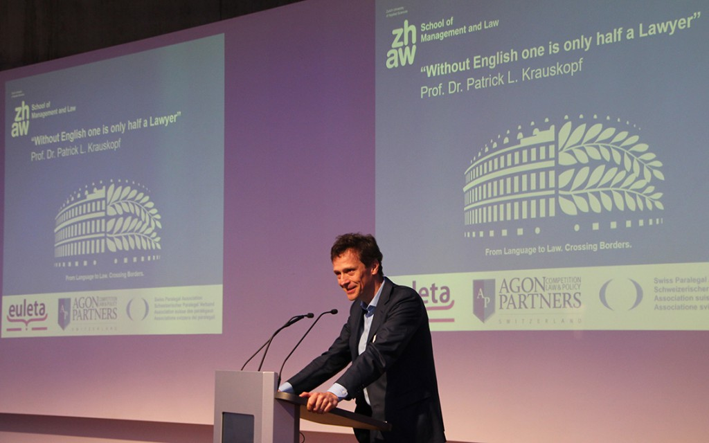 Patrick Krauskopf highlighted the importance of good English skills for lawyers.