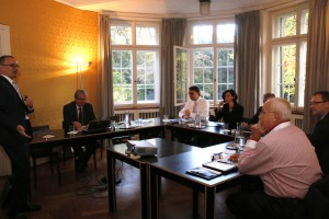 Der Reinsurance Advisory Board tagt in der Villa Sträuli in Winterthur.