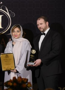 "Dr. Daniel Seelhofer was part of the jury which awarded prices such as ""Best Business Leaders"" – in this case to Fatmah Azam Ali."