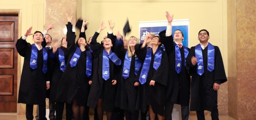 12 graduates celebrated the completion of their IEMBA diploma with a festive graduation ceremony.