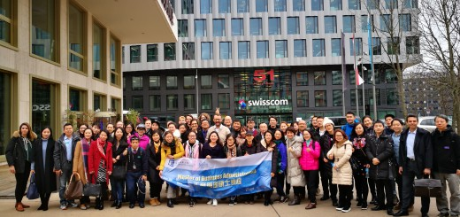 Group picture in front of the Swisscom Business Campus