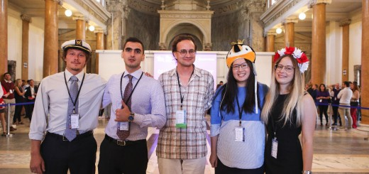 The ZHAW student team and their academic advisor at the Rotman European Trading Challenge 2018 in Rome.
