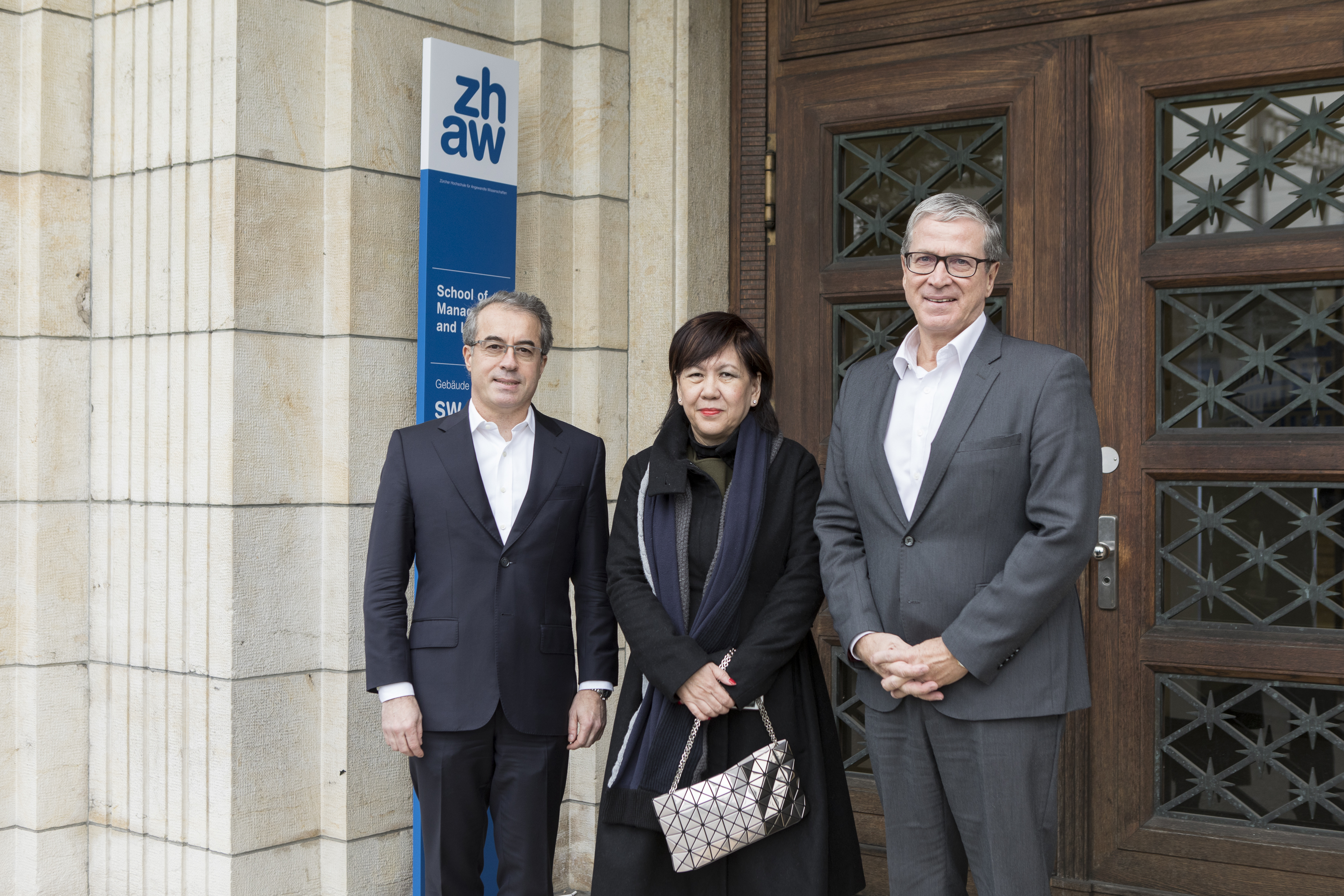Dr. Carlo Pugnetti, Karine Kam, Daniel Greber (left to right)
