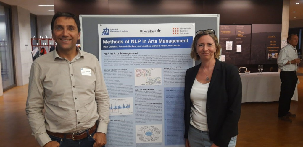 Postersession – NLP Methods in Arts Management (Mark Cieliebak, Diana Betzler)
